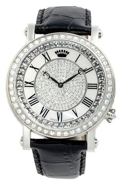 Juicy Couture 'Queen Couture' Leather Strap Watch available at #Nordstrom