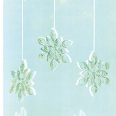 how to make filigree snowflakes