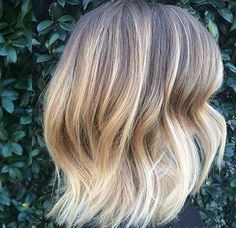 Ombre Hair Color Long Bob