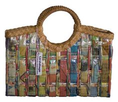 Handbags Made From Recycled Materials Newspaper Crafts Paper Eco Friendly Bags Basket