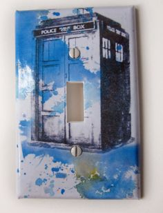 Tardis Doctor Who Decorative Light Switch Plate Cover by idillard, $9.00