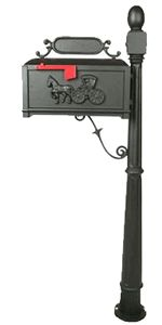 Venia Mailboxes is proud to offer its own unique line of cast aluminum, residential post mount mailboxes. Each of the mailboxes listed on this page ships direct from the factory floor. Cheap Mailboxes, Victorian Mailboxes, Horse And Buggy, Mounted Mailbox, It Cast, Decor, Decoration, Decorating, Deco