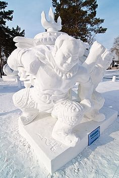 - Snow Sculptures - R Todd King: China Photos 2009 - Harbin Snow Sculptures, Sculpture Art, Ice Plant, I Love Snow, Snow Art, Sidewalk Art, Snowy Day, Snow And Ice, Winter Pictures