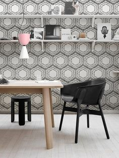 Geometric pattern removable wallpaper Peel and by patternsCOLORAY