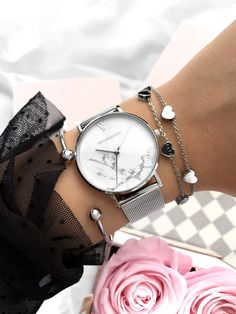 Paul Valentine White Marble Silver Mesh Paul Valentine White Marble Silver Mesh,Accessoires Related posts:Esther - Gold/Gold/Mist - watches womenLemonade Braids That Make Your Hair Style Even Sweeter - lemonade Most Popular Types Of. Trendy Watches, Cute Watches, Cheap Watches, Wrist Watches, Accesorios Casual, Chains For Men, Beautiful Watches, Luxury Watches, Fashion Watches