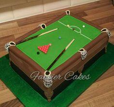 Table de billard crazy cakes pinterest tables de - Taille table snooker ...