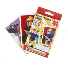 Jumbo Games Fireman Sam Giant Playing Cards 17544 Fireman Sams Giant Playing Cards is the perfect way to enjoy your favourite fireman and all his rescue team and friends from the town of Pontypandy. These playing cards have been designed so they are  http://www.comparestoreprices.co.uk/childs-toys/jumbo-games-fireman-sam-giant-playing-cards-17544.asp