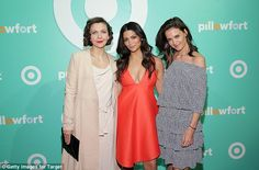 Celeb mums: The actress enjoyed the bash with Maggie Gyllenhaal andCamila Alves, the model wife of Oscar winning actor Matthew McConaughey