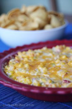 Hot Corn Dip ~ I can't wait to make this in the summer time with fresh corn from the cob. Been missing my mom's dip