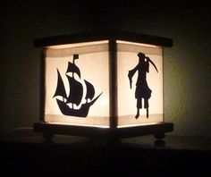 Pirate Lamp Pirate Nightlight Lantern Night Light by babymamma1, $23.00