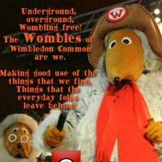 UNDERGROUND, OVERGROUND, WOMBLING FREE! The Wombling Song!