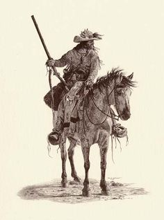 """Scots-Irish Frontiersman - Several generations and thousands of miles from the Anglo-Scottish Borders and still """"tough as nails!"""" (David Wright art)"""