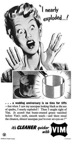"Vim advertisement - ""I nearly exploded!"""