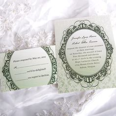 Top 10 Wedding Colors Ideas and Wedding Invitations for Spring 2014 Damask Wedding, Vintage Wedding Theme, Classic Wedding Invitations, Wedding Colors, Wedding Decor, Wedding Ideas, Grayed Jade Wedding, Reception Card, Vintage Frames
