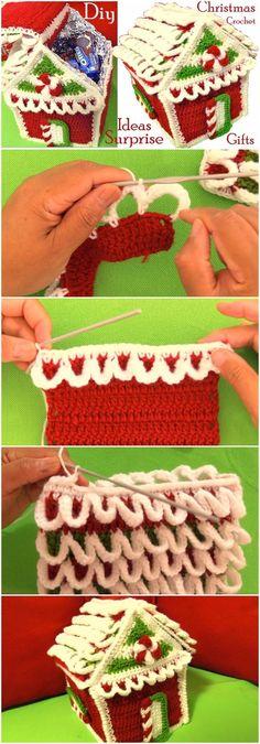 Crochet Christmas House In 3D Point