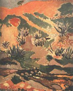 """""""Paisagem com Brook (Brook com Aloés), Priva"""", 1907 por Henri Matisse (1869-1954, France)"""