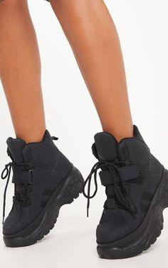 2237eb88cc Black High Top Flatform Sneakers