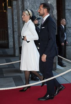 Crown Princess Mette-Marit of Norway attend for the Peace Prize awarding ceremony at the City Hall