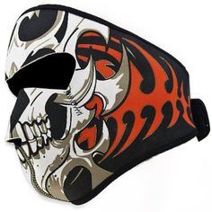 Need buy Order now Astra Depot 2 In 1 Reversible Warm Black Tribal Classic Skull Neoprene Full Face Mask Facemask Headwear Outdoor Sport Ski Skiing Snowmobile Snowboard for Halloween Gifts Idea for #Halloween Gifts Idea Shop