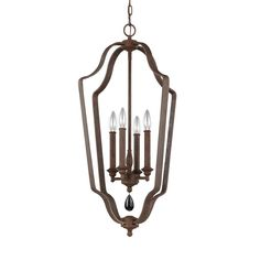 Feiss DeWitt 4-Light Weathered Iron Chandelier-F3072/4WI - The Home Depot