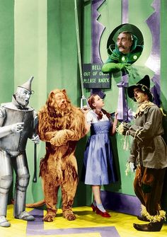 The Wizard of Oz (1939) It kinda made me mad when he didnt open the door! lol