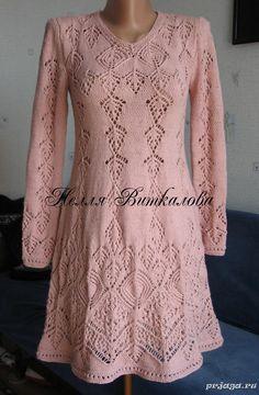 Еще один шедевр, платье спицами, Нелли Виткаловой, украинской мастерицы из Конотопа