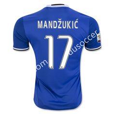 2016-17 Juventus Away MANDZUKIC Blue Thailand Soccer Jersey AAA