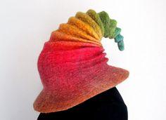 Wizard Hat. Witch Hat. Felt Hat. Ren Faire Hat. Cosplay Hat.