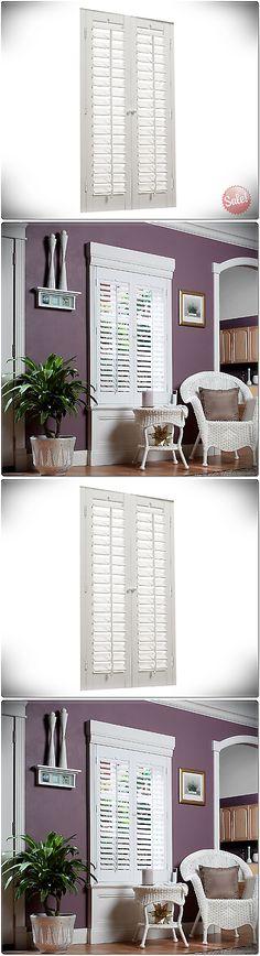 Shutters 66799: 35 X 36 Interior Shutter Window Panel Plantation White Faux  Wood Home Decor