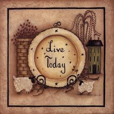 Live Today by Mary Ann June Poster Print