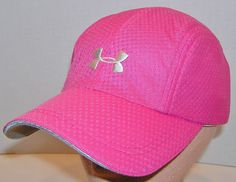 7b0f6f4e8df Under Armour Womens Pink 4 Panel 100% Polyester Athletic Cycle Cap  Strapback Hat  UnderArmour