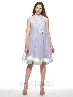 Ericdress Lace Patchwork Expansion Pleated Casual Dress 3