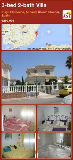 3-bed 2-bath Villa in Playa Flamenca, Alicante (Costa Blanca), Spain ►€299,995 #PropertyForSaleInSpain