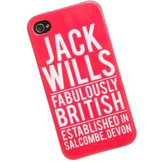 Jack Wills Mowden Phone Case For Iphone 4 (19 CAD) ❤ liked on Polyvore featuring accessories, tech accessories, phone cases, phone, iphone cases, iphone, brill pink, jack wills, iphone cover case and apple iphone cases