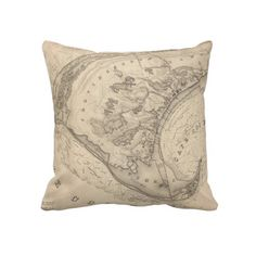 Vintage Map of Provincetown (1836) Throw Pillows from Zazzle.com $62.40