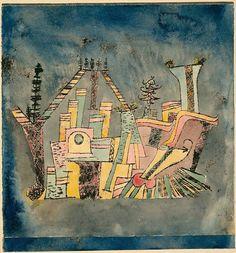 Paul Klee(1879 - 1940, Swiss)   Garden on Debris. 1923-1924 watercolor and black ink transfer on cream wove paper, mounted on cream card. 26.8 х 25.4 cm.