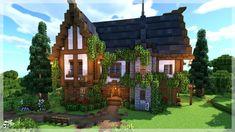 Casa Medieval Minecraft, Minecraft House Plans, Minecraft Farm, Minecraft Mansion, Minecraft Houses Survival, Minecraft House Tutorials, Cute Minecraft Houses, Minecraft Castle, Minecraft House Designs