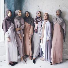 Elegant muslim outfits ideas for eid mubarak 35 Islamic Fashion, Muslim Fashion, Modest Fashion, Dubai Fashion, Abaya Fashion, Fashion 2017, Hijab Fashionista, Muslim Girls, Muslim Women