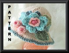 Knitting Pattern for Baby HatChildren by CottonPickings on Etsy, $5.49