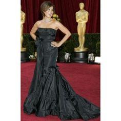 Mariska Hargitay Black Strapless Prom Gown Formal Dress 2010 Oscar Red Carpet Celebrity Dresses