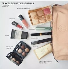 Checklist and tips: travel beauty essentials to pack for your next holiday I'm a reformed packer but I still fall down in is the beauty department. These are my travel beauty essentials and tips for cutting back what you need. Beauty Essentials, Travel Makeup Essentials, Holiday Essentials, The Beauty Department, Blush Makeup, Beauty Makeup, Makeup Style, Makeup Geek, Makeup Products