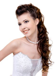 This is exactly how I wore my hair for prom, long ago. Same length hair and even a similar necklace :)