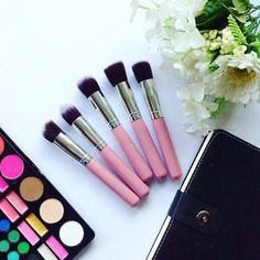 New kabuki unbranded makeup brushes that I got from @shopee_ph do you want me guys to make a review of these products?  #flatlay #makeupbrushes #kabuki #flower #cosmeticflatlay #filipinoyoutuber #localproductreview #picoftheday #photography #makeup #joyofmia #miacaabay #joiecaabay Laura Mercier, Filipina, Makeup Brushes, Lipstick, Cosmetics, Photo And Video, Youtube, Photography, Beauty