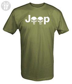 Jeep Logo with Punisher Skulls - 4x4 Outdoor - T Shirt - Xlarge - Birthday shirts (*Amazon Partner-Link)