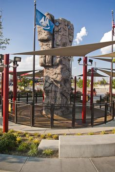 Check out our surface under the rock climbing wall at Perkins Road Park!