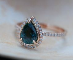 15 Beautiful Sapphire Engagement Rings to Make You Say Bye to Diamonds via Brit + Co.