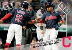 2017 Topps Now #588 Cleveland Indians Front