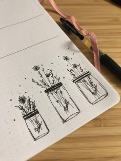 30 Ways to Draw Flowers // Things to draw, floral drawing, flower drawings, botanical drawings, easy things to draw drawing doodles 30 Ways to Draw Flowers Bullet Journal Inspo, Bullet Journal Ideas Pages, Best Bullet Journal Pens, January Bullet Journal, Bullet Journal Minimalist, Bullet Journal Books, Bullet Journal Aesthetic, Simple Line Drawings, Easy Drawings