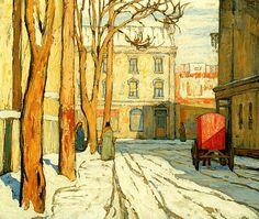 """""""Toronto Street, Winter Morning"""" by Lawren Harris, 1920"""