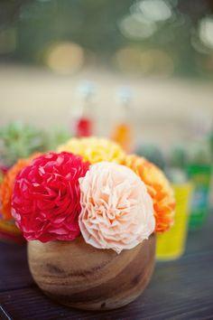 fiesta inspired wedding centerpiece ideas